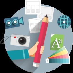 Mobile app design icon